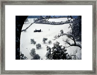 Winter Scene In Switzerland Framed Print
