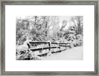 Winter Scene Framed Print by Kathy Jennings