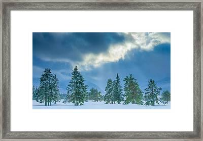Winter Scene - New Hampshire Framed Print