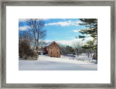 Winter Scene On A Pennsylvania Farm Framed Print by Bill Cannon