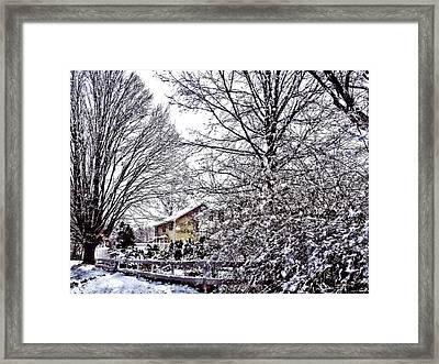 Winter Scene Framed Print by Susan Savad