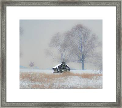 Winter Scene - Valley Forge Framed Print by Bill Cannon