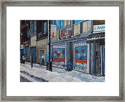 Winter Scene Verdun Framed Print by Reb Frost