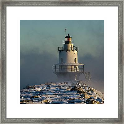 Winter On Spring Point Framed Print