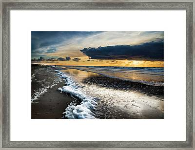Winter Sea Sunset Framed Print