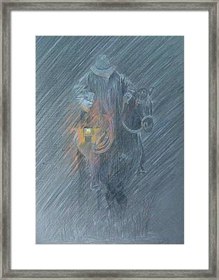 Winter Search Framed Print