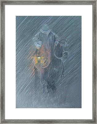 Winter Search Framed Print by Dan Hausel