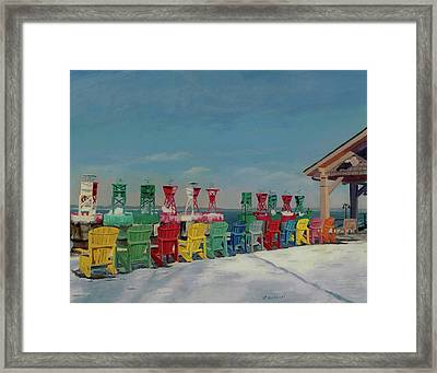 Winter Sentries Framed Print