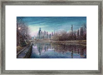 Winter Serenity Snow Framed Print by Doug Kreuger