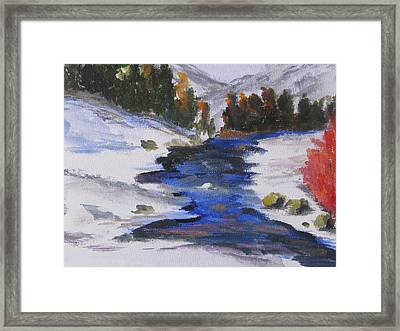 Winter Shades Framed Print by Trilby Cole