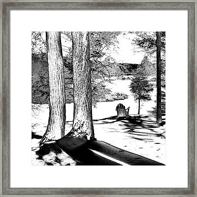 Framed Print featuring the photograph Winter Shadows by David Patterson
