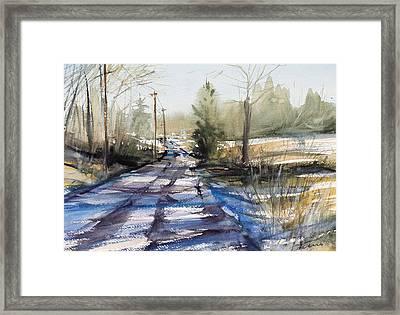 Winter Shadows  Framed Print by Judith Levins