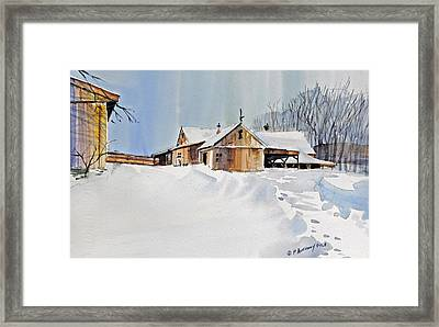 Winter Shadows Framed Print by P Anthony Visco