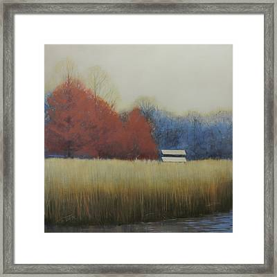 Framed Print featuring the painting Winter Shed by Cap Pannell