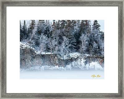 Winter Shore Framed Print
