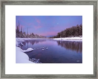 Winter Silence And Beauty Framed Print by Leland D Howard