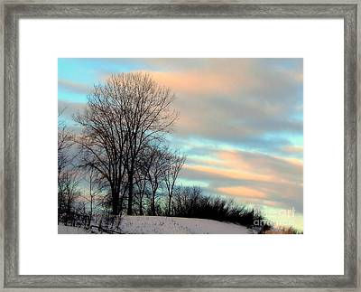 Winter Sky Framed Print