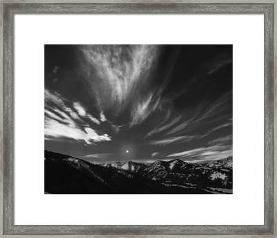 Winter Sky Framed Print by Leland D Howard