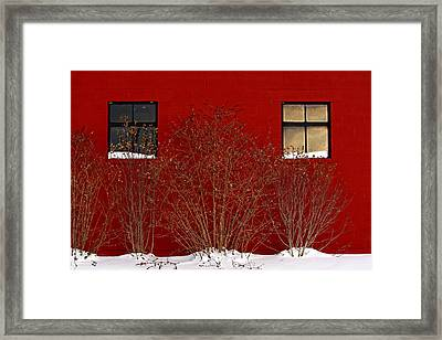 Framed Print featuring the photograph Winter Sky Reflection by Don Nieman