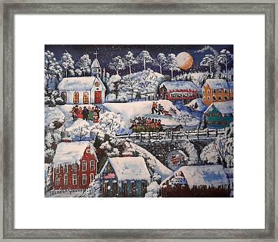 Winter Sleigh Ride Framed Print by Theresa Prokop