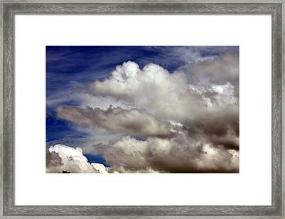 Winter Snow Clouds Framed Print