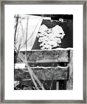 Winter Snow Heart Framed Print