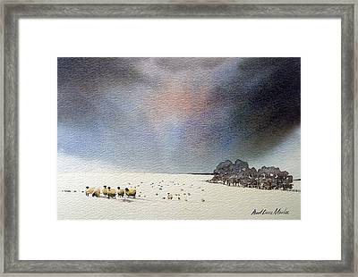 Winter Snow Swaledale Framed Print by Paul Dene Marlor