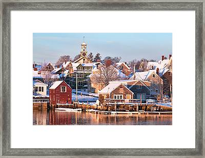 Winter Snowfall In Portsmouth Framed Print