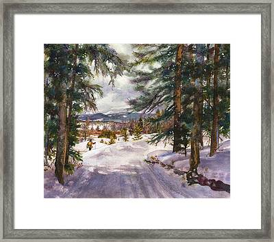 Winter Solace Framed Print by Anne Gifford