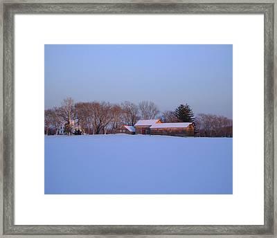 Winter Solace Framed Print by Leonardo Ruggieri