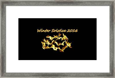 Winter Solstice Flame Framed Print
