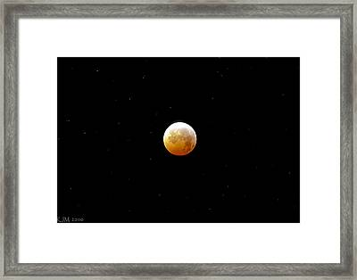 Winter Solstice Lunar Eclipse 2010 Framed Print by Kevin Munro