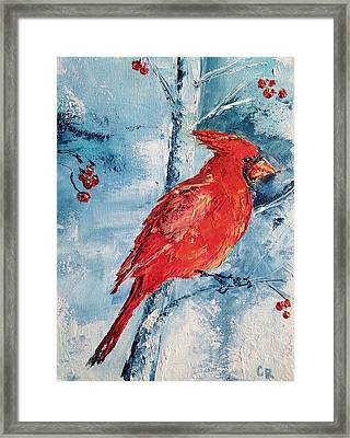 Framed Print featuring the painting Winter Song by Chris Rice