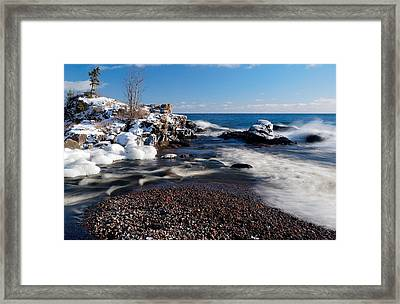 Winter Splash Framed Print by Sebastian Musial