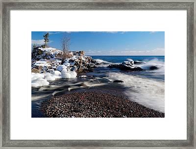 Winter Splash Framed Print by Sebastian Musial