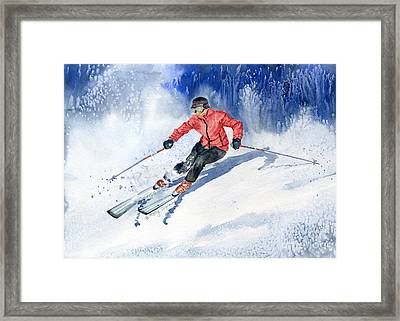 Winter Sport Framed Print by Melly Terpening