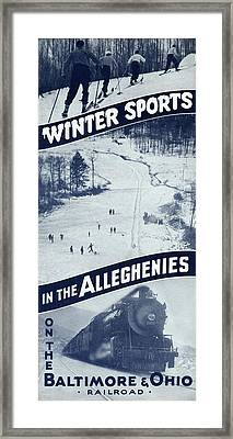 Winter Sports In The Alleghenies Framed Print