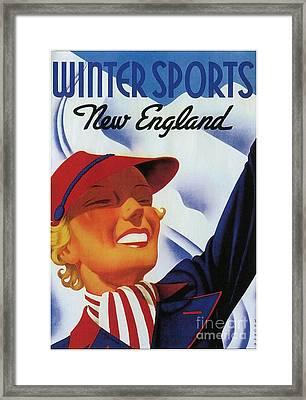 Winter Sports New England Framed Print by Heidi De Leeuw