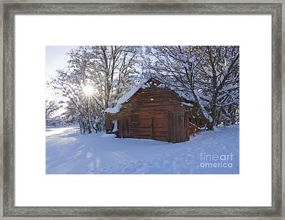 Winter Stable Framed Print