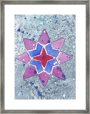 Winter Star Framed Print by Paula Anthony