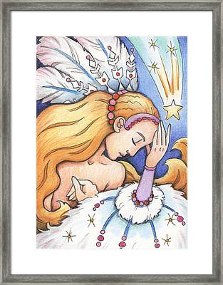Winter Starfall Framed Print by Amy S Turner