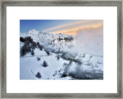 Winter Steam  Framed Print
