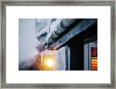 Winter Storm Framed Print by Aldona Pivoriene