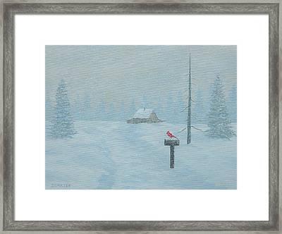Winter Storm Carter Framed Print by John Carter