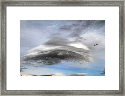 Winter Storm Coming Framed Print by Donna Kennedy