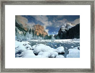 Framed Print featuring the photograph Winter Storm In Yosemite National Park by Dave Welling