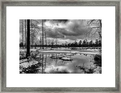 Winter Storm Landscape Framed Print by Louis Dallara