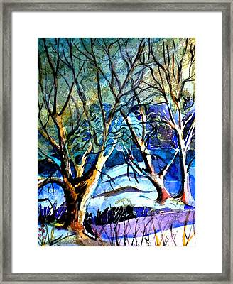 Winter Storm Framed Print by Mindy Newman