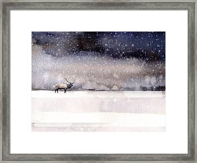 Winter Storm Framed Print by Paul Sachtleben