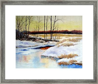 Winter Stream 1107 Framed Print by Laura Tasheiko